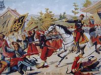 Cousin-Montauban leading French forces during the Anglo-French expedition to China