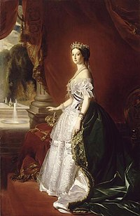 Empress Eugénie in 1853, after her marriage to Napoleon III (by Franz Xaver Winterhalter)