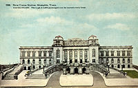 Memphis Union Station postcard issued soon after the station opened in April 1912.