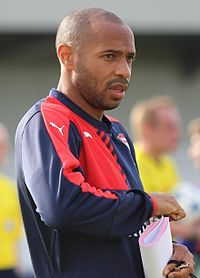 Henry as coach of Arsenal under 19s, September 2015