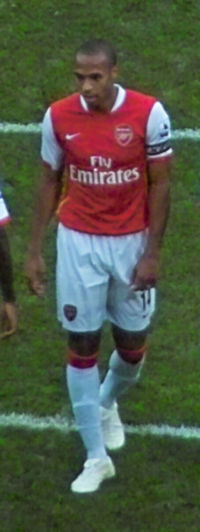 Henry was made captain following the departure of fellow Frenchman Patrick Vieira to Juventus in 2005