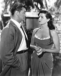 Mitchum with Jane Russell in His Kind of Woman (1951)