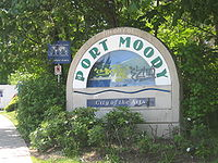 Port Moody's welcome sign.