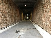 The Lincoln Street Tunnel - A pedestrian and bicycle-only tunnel converted from a former railroad tunnel, which crosses under Lincoln, Washington, and Hampton Streets.