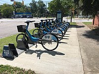 Bicycles available for rental in downtown Columbia