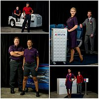 In October 2016, Delta Air Lines unveiled new uniforms for their employees, which were designed by Posen.