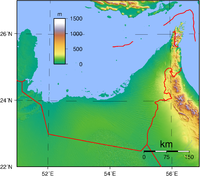 Topography of the UAE
