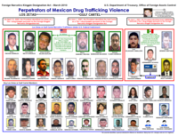 Leadership chart of the Gulf Cartel and Los Zetas issued by the U.S. Department of the Treasury