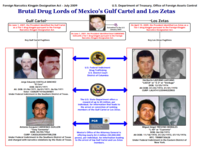 Indictment chart against leaders of the Gulf Cartel and Los Zetas, issued by the U.S. Department of the Treasury