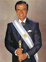 Carlos Menem served as President of Argentina from 1989 to 1999