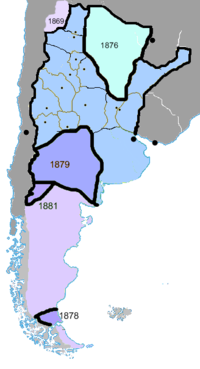 Under General Roca, the Conquest of the Desert extended Argentine power into Patagonia.