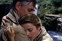 Gable and Grace Kelly in Mogambo (1953)