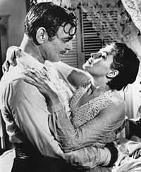 Gable and Yvonne De Carlo in Band of Angels (1957)