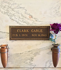Gable's crypt in the Sanctuary of Trust of the Great Mausoleum at Forest Lawn, Glendale