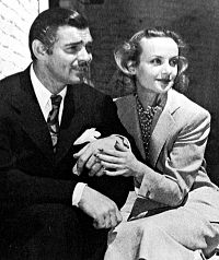 Gable with his third wife Carole Lombard after their 1939 honeymoon