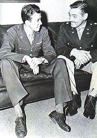 James Stewart and Gable, 1943