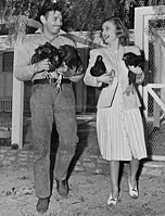 """""""Ma and Pa"""" as they affectionately called each other, at their Encino, California, ranch"""