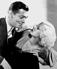 Gable and Harlow in Hold Your Man (1933), one of the six films they would make
