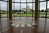 Oklahoma State Capitol, seen from the OK History Center