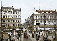 Berlin became the capital of the German Empire in 1871 and expanded rapidly in the following years.