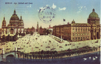 Berlin Cathedral (left) and Berlin Palace (right), 1900