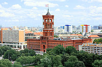Rotes Rathaus (Red City Hall), seat of the Senate and Mayor of Berlin