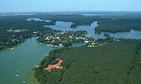 The outskirts of Berlin are covered with woodlands and numerous lakes.