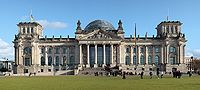 The Reichstag, seat of the Bundestag