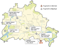 Airports in Berlin, including those that are no longer used (as of November 2020)