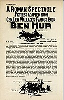 Price for a hand-colored print of Ben Hur in 1908