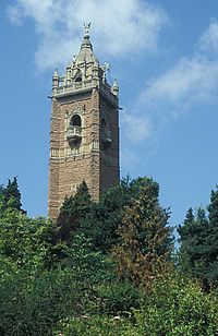 Cabot Tower, seen from the Brandon Hill park