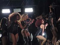 """The tour was generally well received by critics. Beyoncé was praised for her performance abilities and choreographed routines with her background dancers, and can be seen performing """"Single Ladies (Put a Ring on It)""""."""
