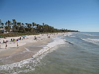 Visitors at the beach in Naples, Florida