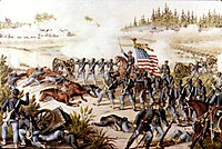The Battle of Olustee during the American Civil War, 1864