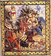 David playing his harp (unknown artist, c. 960). The book of Psalms, included in the Jewish and Christian scriptures, and said to have been written largely by David, is one of the earliest collections of sacred music, and still plays a role in the liturgies of the two religions.