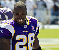 All-Pro running back Adrian Peterson was selected 7th overall by the Vikings in the 2007 NFL Draft, and played for the Vikings from 2007 to 2016.