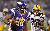 In 2012, Adrian Peterson rushed for 2,097 yards – 8 yards short of Eric Dickerson's single-season record.