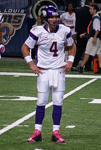 Brett Favre played for the Vikings in 2009 and 2010.
