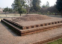 Buddha's body was kept at this location for one week, after he attained Parinirvana.