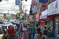 Eighth Avenue, where many Chinese businesses within Sunset Park are concentrated