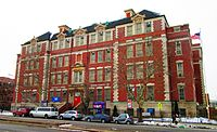 Charles O. Dewey and Sunset Park Prep middle schools share this building on Fourth Avenue