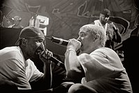 Eminem and Proof performing in 1999