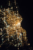 Milwaukee at 3:03:05 AM in 2015. Photo reversed from the original so north would point up.