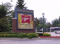 Entrance to Miller Brewery in Milwaukee