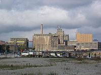 The Pabst Brewery Complex, closed in 1997, before its redevelopment