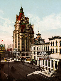 Wisconsin Street with Pabst Building, Milwaukee, 1900