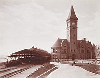 Milwaukee's Lake Front Depot in 1898