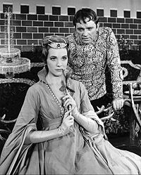 Andrews as Queen Guinevere with Richard Burton as King Arthur in the musical Camelot