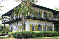 The Hemingway House in Key West, Florida, where he lived between 1931 and 1939 and where he wrote To Have and Have Not
