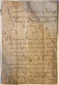 The first page of the Bendery Constitution. This copy in Latin was probably penned by Hetman Pylyp Orlyk. The original is kept in the National Archives of Sweden.